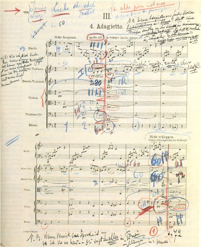 Mengelbergin partituuri Mahlerin 5. sinfonian Adagiettosta