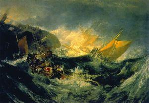 William Turner: Shipwreck of the Minotaur, 1810